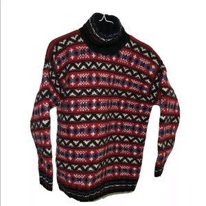 Jones New York Sport Hand Knit Wool Sweater Size M